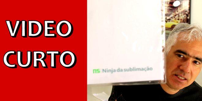 Video Curto #007 – Como Personalizar Produtos – Pasta de Documentos de Plástico